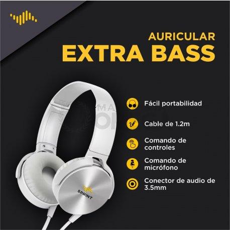 """Auricular vincha Extra Bass """"SPRINT"""""""
