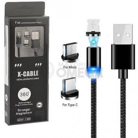 Cable imantado 3 en 1