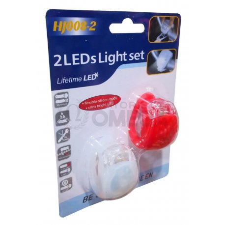 Luz de bici siliconada x2