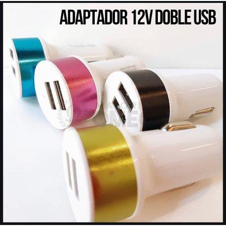 Cargador USB metalizado X2