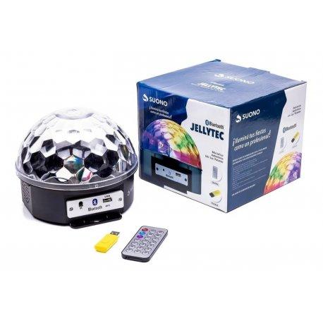 Media esfera con luz y parlante bluetooth