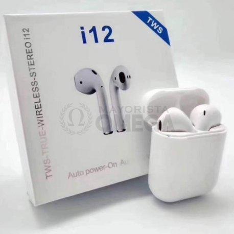 Auricular Bluetooth i12 blanco